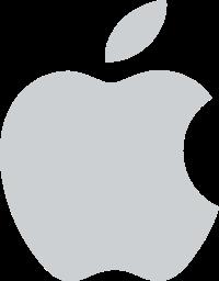 Apple Logo Light Gray